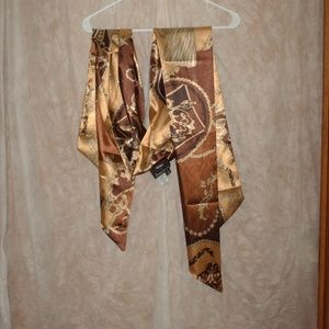 Dennis by Dennis Basso gold and brown scarf